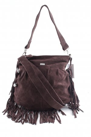 s.Oliver Fringed Bag brown Aztec print