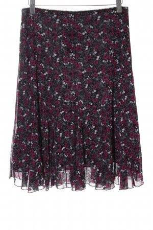 s.Oliver Godet Skirt black-red flower pattern casual look