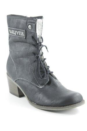 s.Oliver Halbstiefel schwarz-graubraun Casual-Look