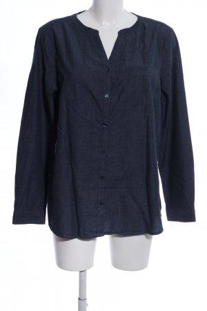s.Oliver Hemd-Bluse blau meliert Casual-Look