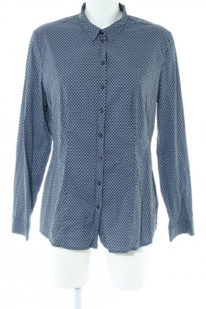 s.Oliver Hemd-Bluse blau abstraktes Muster Business-Look