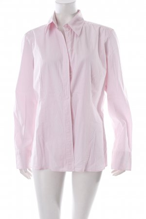 s.Oliver Hemd-Bluse weiß-rosa Streifenmuster klassischer Stil