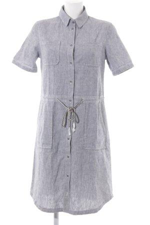 s.Oliver Abito blusa camicia grigio ardesia motivo a righe stile casual