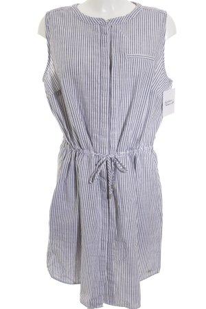 s.Oliver Hemdblusenkleid graublau-wollweiß Streifenmuster Casual-Look