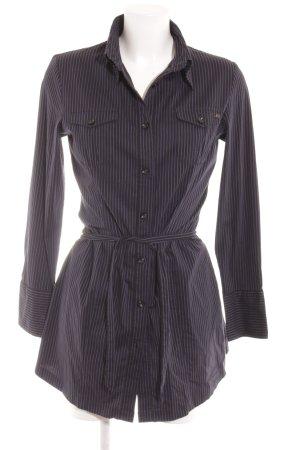 s.Oliver Hemdblusenkleid schwarz-blau Streifenmuster Casual-Look