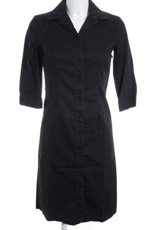 s.Oliver Hemdblusenkleid schwarz Elegant