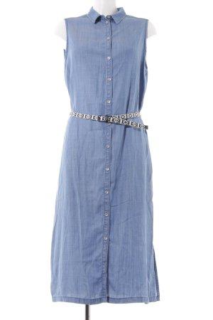 s.Oliver Abito blusa camicia blu acciaio stile casual