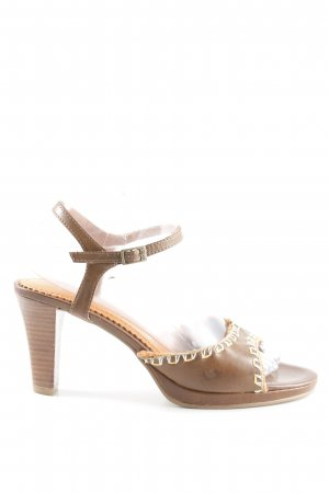 s.Oliver High Heel Sandaletten braun-dunkelorange Casual-Look