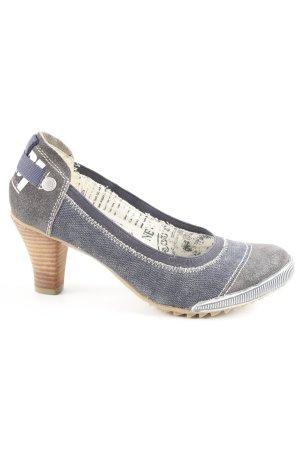 37a0dc098bb4d4 s.Oliver High Heels graublau-dunkelblau Business-Look