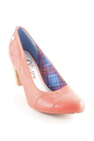 s.Oliver High Heels hellrot-hellbraun klassischer Stil