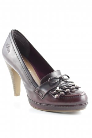 s.Oliver High Heels purpur-silberfarben Elegant