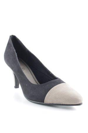 s.Oliver High Heels schwarz-graubraun Casual-Look