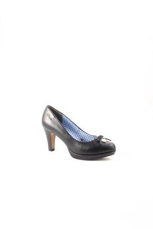 s.Oliver High Heels schwarz-silberfarben klassischer Stil
