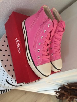 S. Oliver High Top Sneaker Turnschuhe Pink Gr. 40