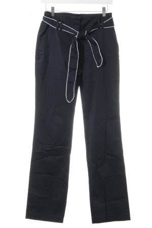 s.Oliver High Waist Trousers dark blue-white sailor style