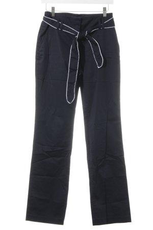 s.Oliver High-Waist Hose dunkelblau-weiß Segel-Look