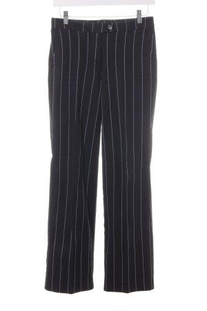 s.Oliver High-Waist Hose schwarz-weiß Nadelstreifen Casual-Look