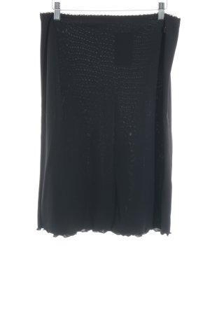 s.Oliver High Waist Rock schwarz Elegant
