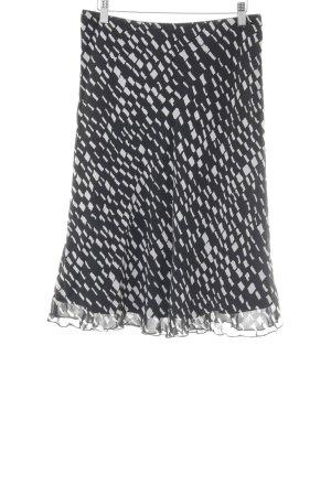 s.Oliver High Waist Skirt black-white mixed pattern elegant