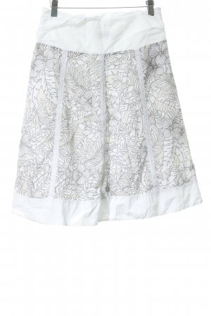 s.Oliver High Waist Rock weiß-creme florales Muster Casual-Look