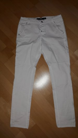 s.Oliver Chinos white cotton