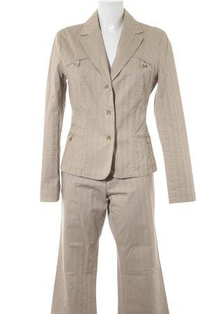 s.Oliver Tailleur pantalone crema motivo a righe stile professionale