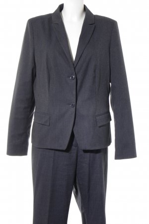 s.Oliver Trouser Suit dark blue flecked business style