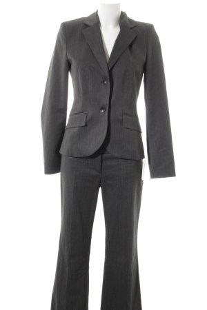 s.Oliver Tailleur pantalone nero-grigio scuro gessato stile professionale