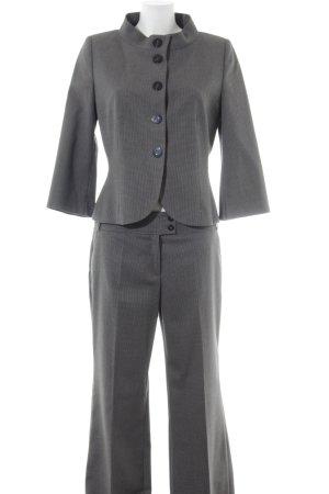 s.Oliver Traje de pantalón negro-gris oscuro estampado de cuadros guinga
