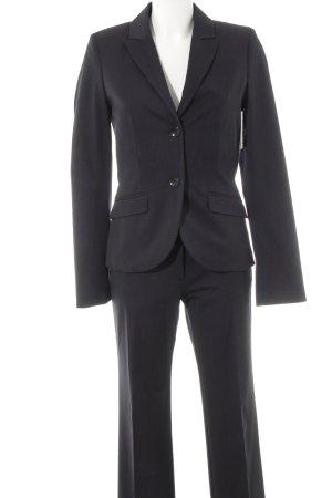s.Oliver Trouser Suit black pinstripe embossed logo