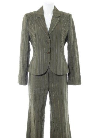 s.Oliver Traje de pantalón estampado a rayas estilo «business»