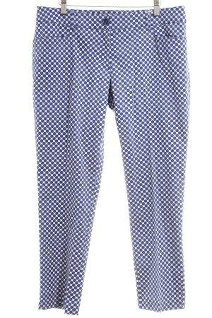 s.Oliver Hüfthose weiß-blau Punktemuster Casual-Look