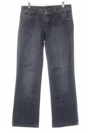 s.Oliver Hüftjeans dunkelblau Washed-Optik