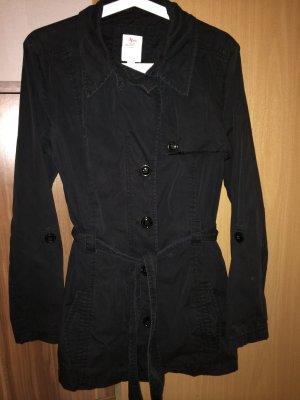 S.oliver Jacke Trenchcoat Gr 38 schwarz