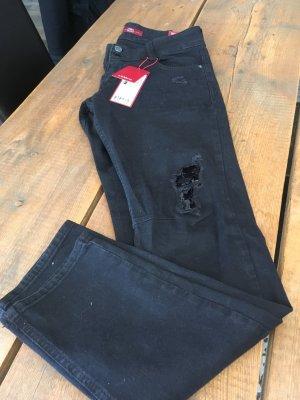 S.Oliver Jeans Gr 36  NEU schwarz destroyed mit Pailletten