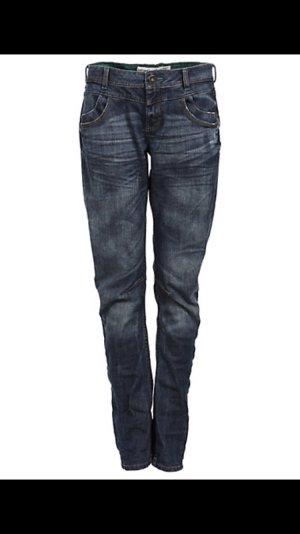 S. Oliver Jeans loose fit Boyfriend Gr.38 denim dunkelblau