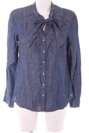 s.Oliver Blouse en jean bleu-orange foncé style décontracté