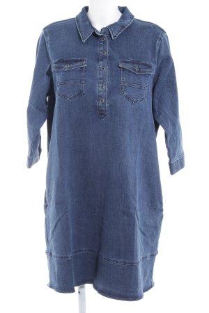 s.Oliver Jeansjurk donkerblauw-lichtblauw simpele stijl