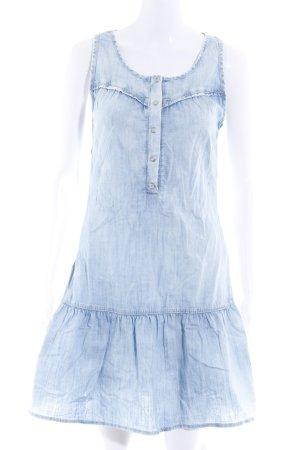 s.Oliver Robe en jean bleu azur style décontracté