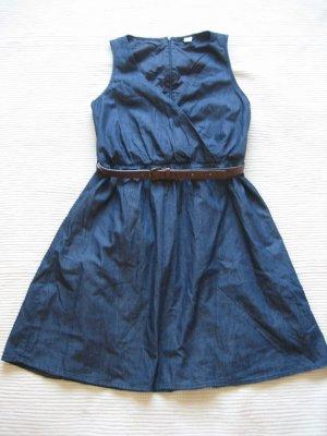 s.oliver jeanskleid sommerkleid wickelkleid neu gr. s 36