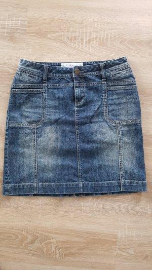 s.Oliver Jupe en jeans bleu acier