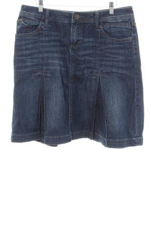 s.Oliver Jupe en jeans bleu style décontracté