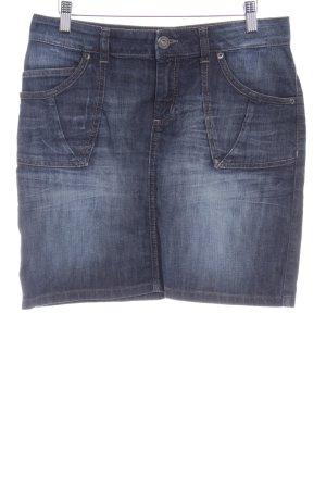 s.Oliver Jeansrock dunkelblau-graublau schlichter Stil