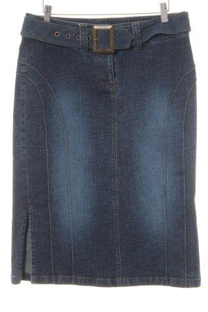 s.Oliver Jupe en jeans bleu foncé moucheté style décontracté