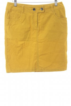 s.Oliver Jeansrock dunkelgelb Streifenmuster Casual-Look