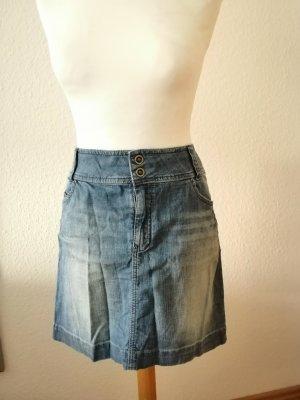 s.Oliver Jupe en jeans multicolore coton