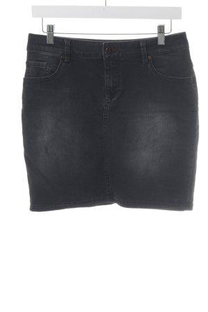 s.Oliver Jeansrock schwarz Jeans-Optik
