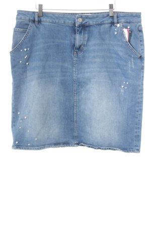 s.Oliver Spijkerrok staalblauw Jeans-look
