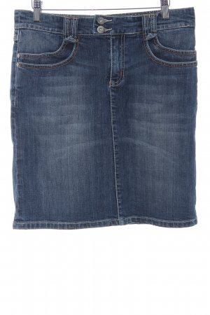 s.Oliver Jeansrock stahlblau Jeans-Optik