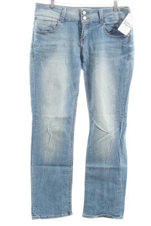 s.Oliver Jeansschlaghose blau Street-Fashion-Look